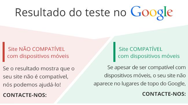 Criamos sites que cumprem com os critérios de compatibilidade com dispositivos móveis, e que passam no teste do Google.